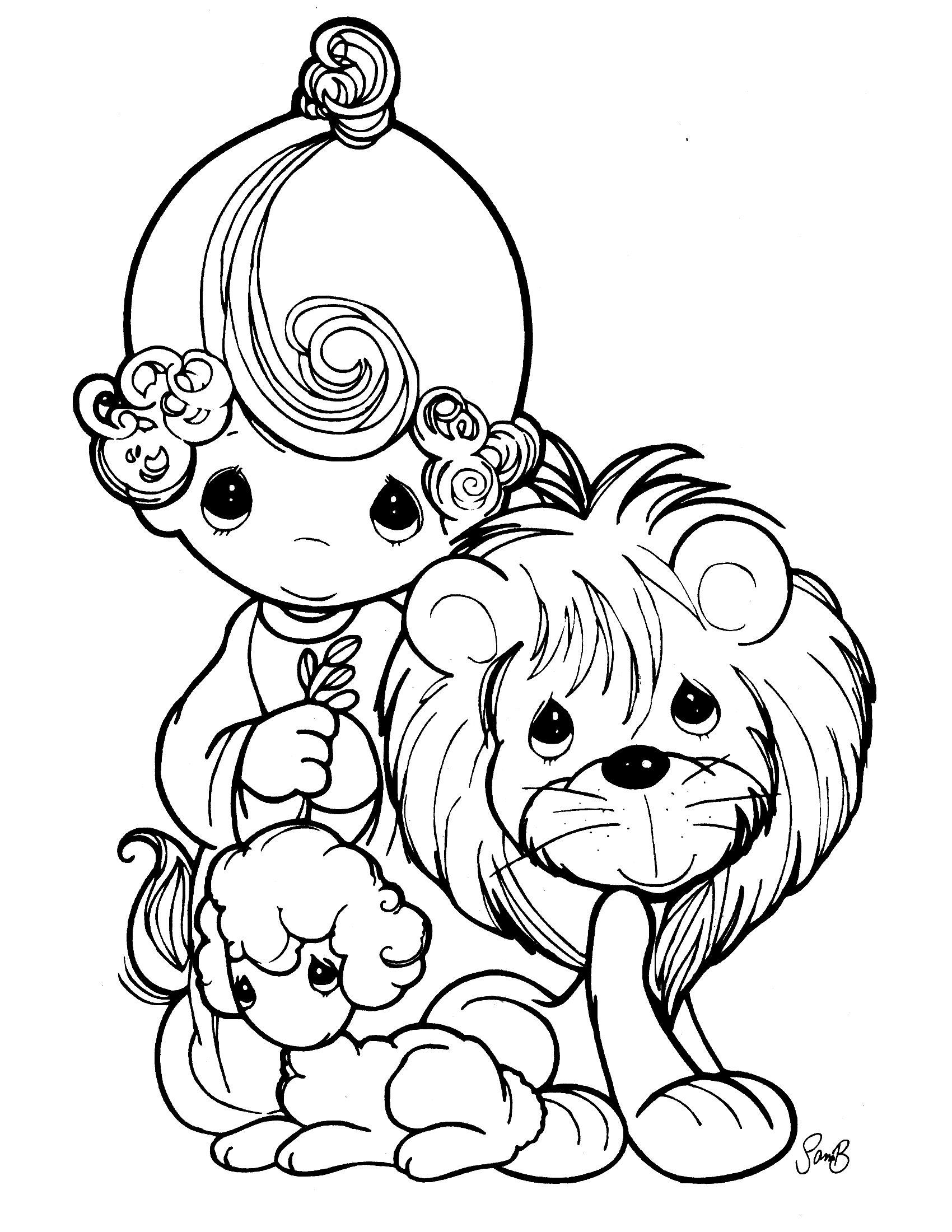 Precious Moments 5 Precious Moments Coloring Pages Lion Coloring Pages Coloring Books