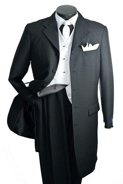 Vittorio St. Angelo Men's 5 Piece Fashion Suit - Reversible Vest