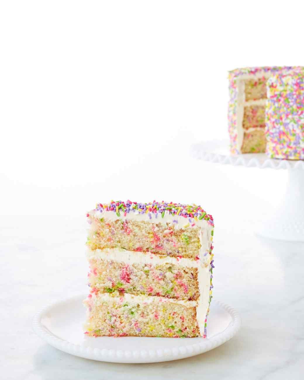 This Colorful Whimsical Vanilla Cake Has Sprinkles Inside And Out Just May Be The Ultimate Birthday Recipe Is Adapted From Book