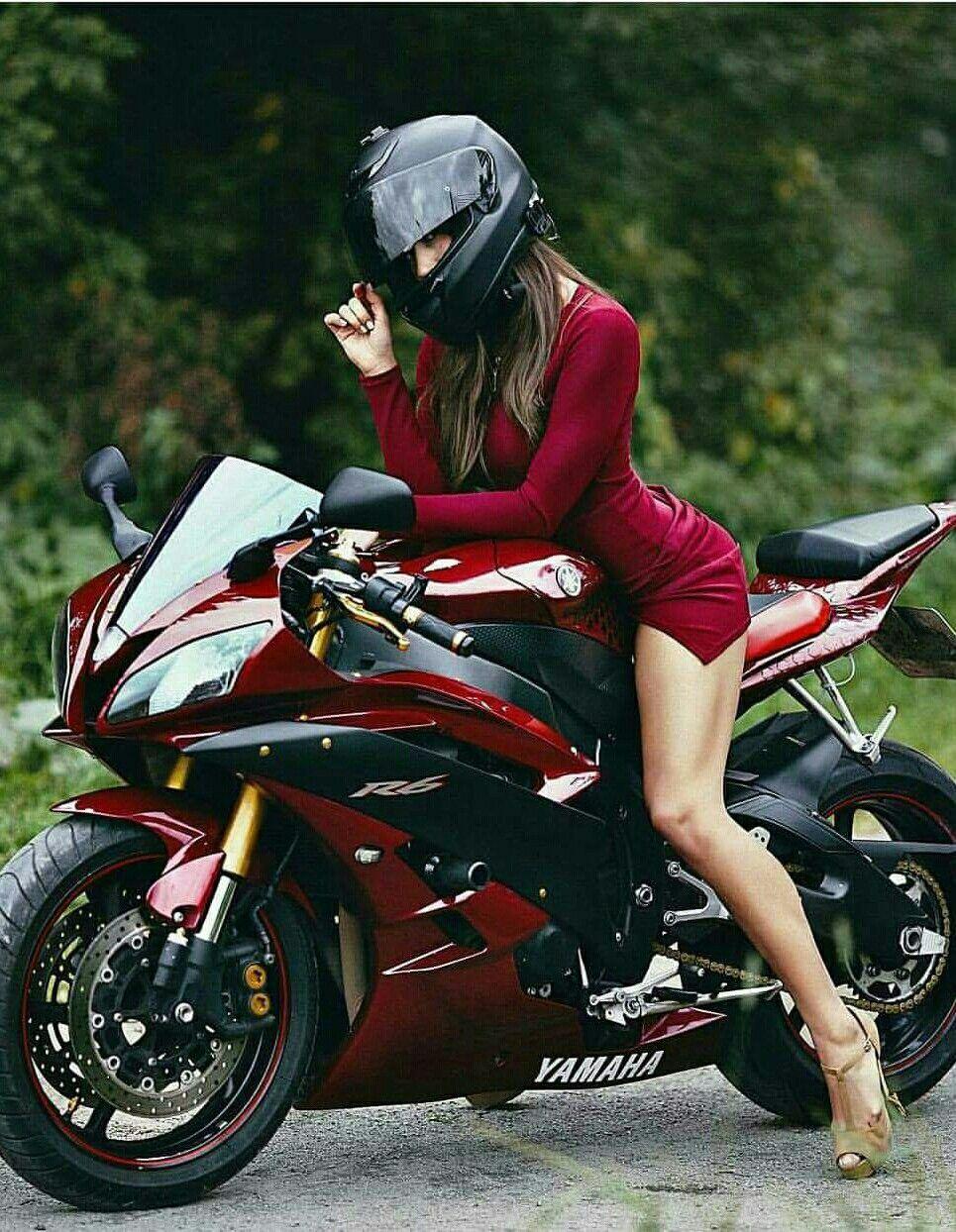 nackte mädchen auf motorrädern, fahrräder