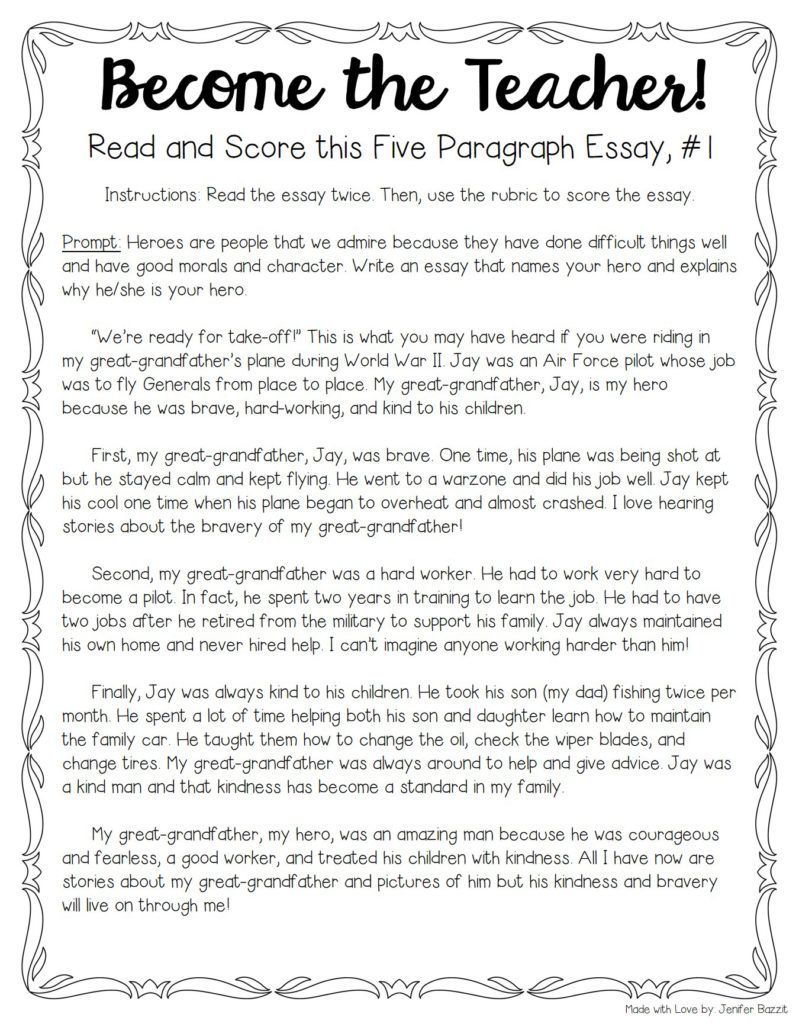 how to write a 4 paragraph essay