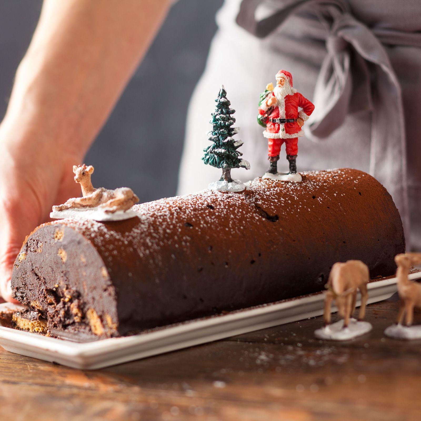 La Buche En 15 Minutes Chrono Dessert Noel Facile Dessert Noel Buche De Noel