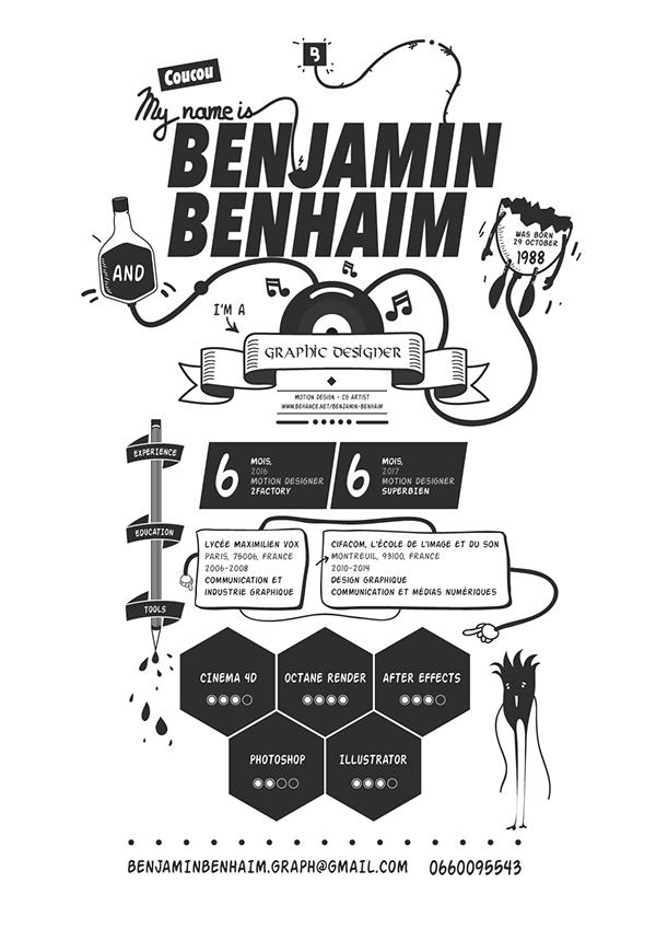 timeline on behance