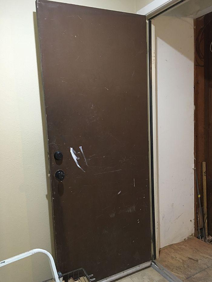 The Easiest Flat Panel Door Update Ever Door Makeover Diy Door Makeover Diy Interior Doors