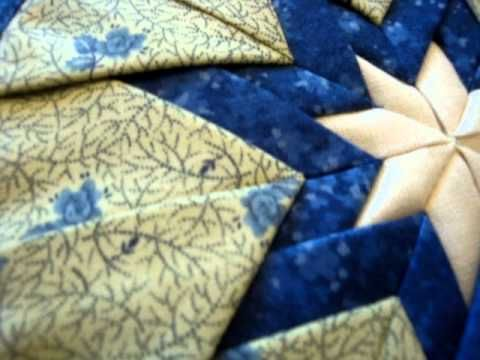Amish Quilted Folded Star Hot Pad Blues | quilting | Pinterest ... : quilted hot pad patterns free - Adamdwight.com