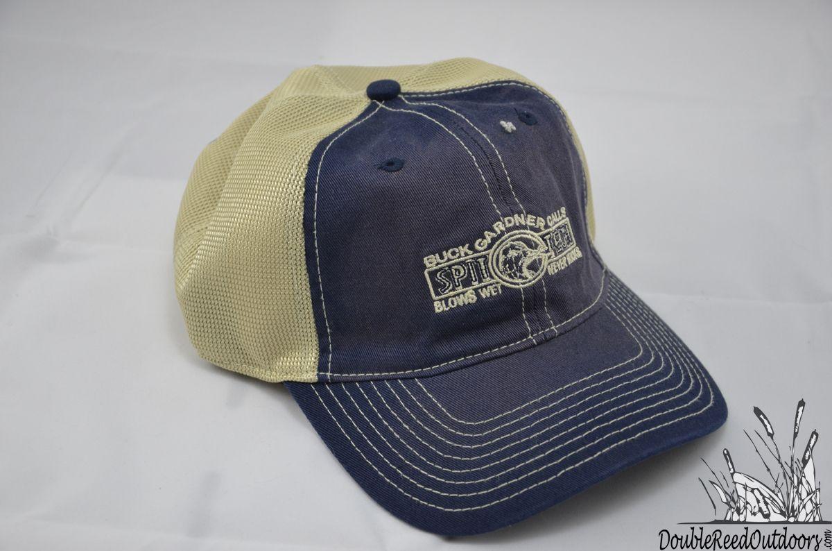 Buck gardner gear blue white summer cap spittech logo