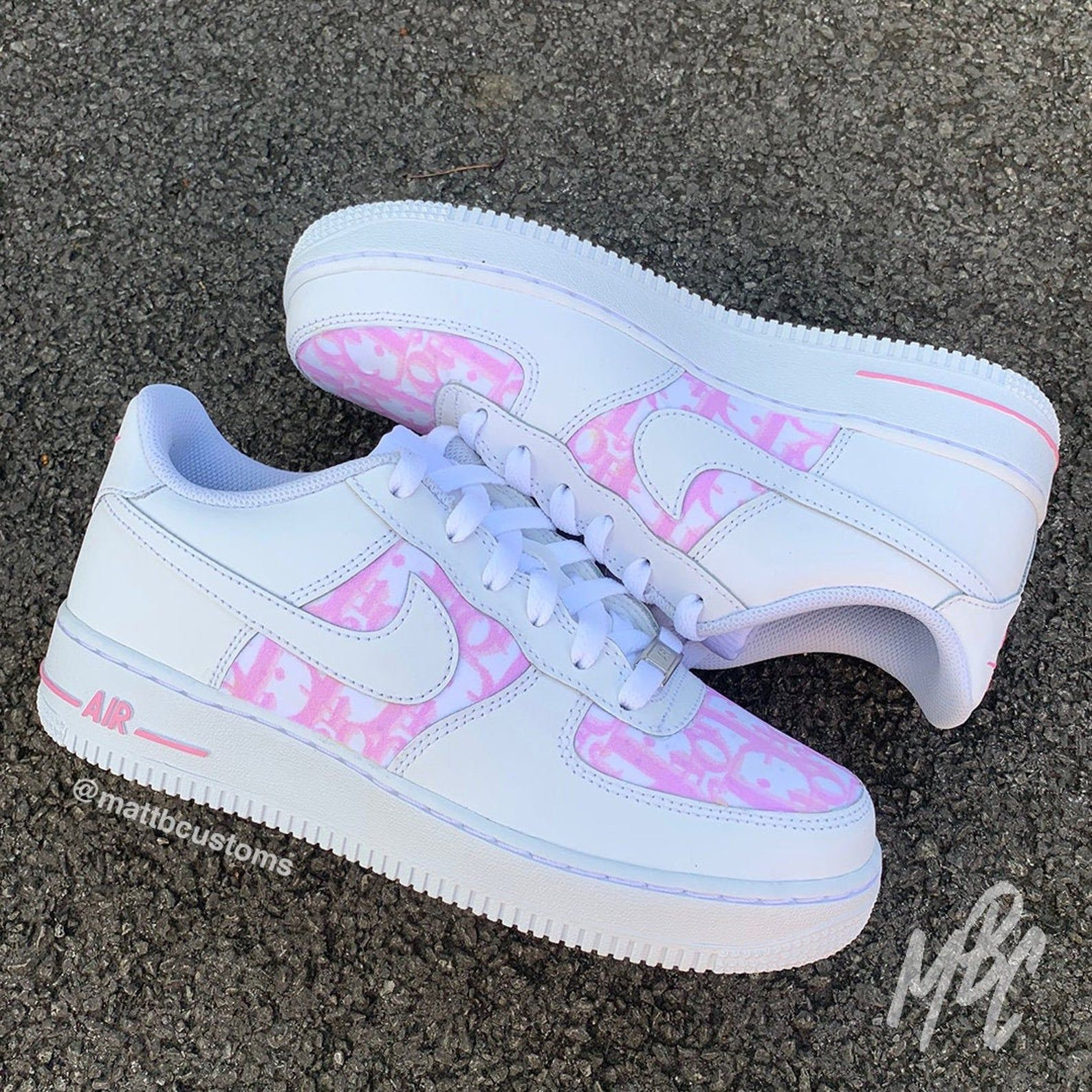 Nike Air Force 1 Pink Dior | Etsy | Nike air shoes, Hype ...