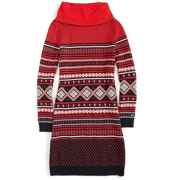 Tommy Hilfiger Fair Isle Sweater Dress (€120) ❤ liked on Polyvore ...