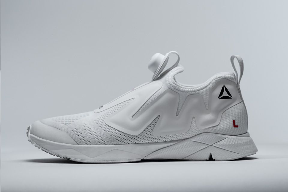 Following a little teaser earlier this week, we can now take our best look yet at Vetements and Reebok's collaboration on a brand new pump sneaker.
