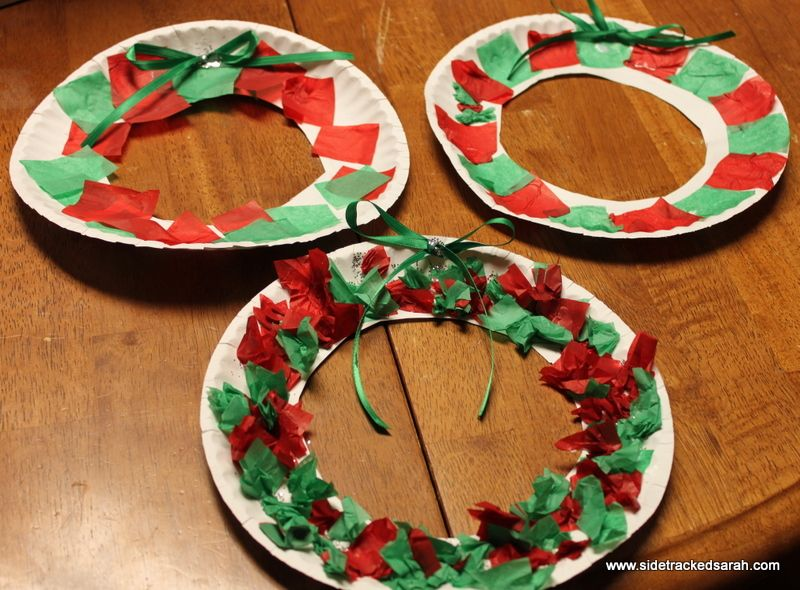 Paper Plate Wreath 25 Days Series - Sidetracked Sarah & Paper Plate Wreath 25 Days Series | Wreaths Craft and Toddler ...