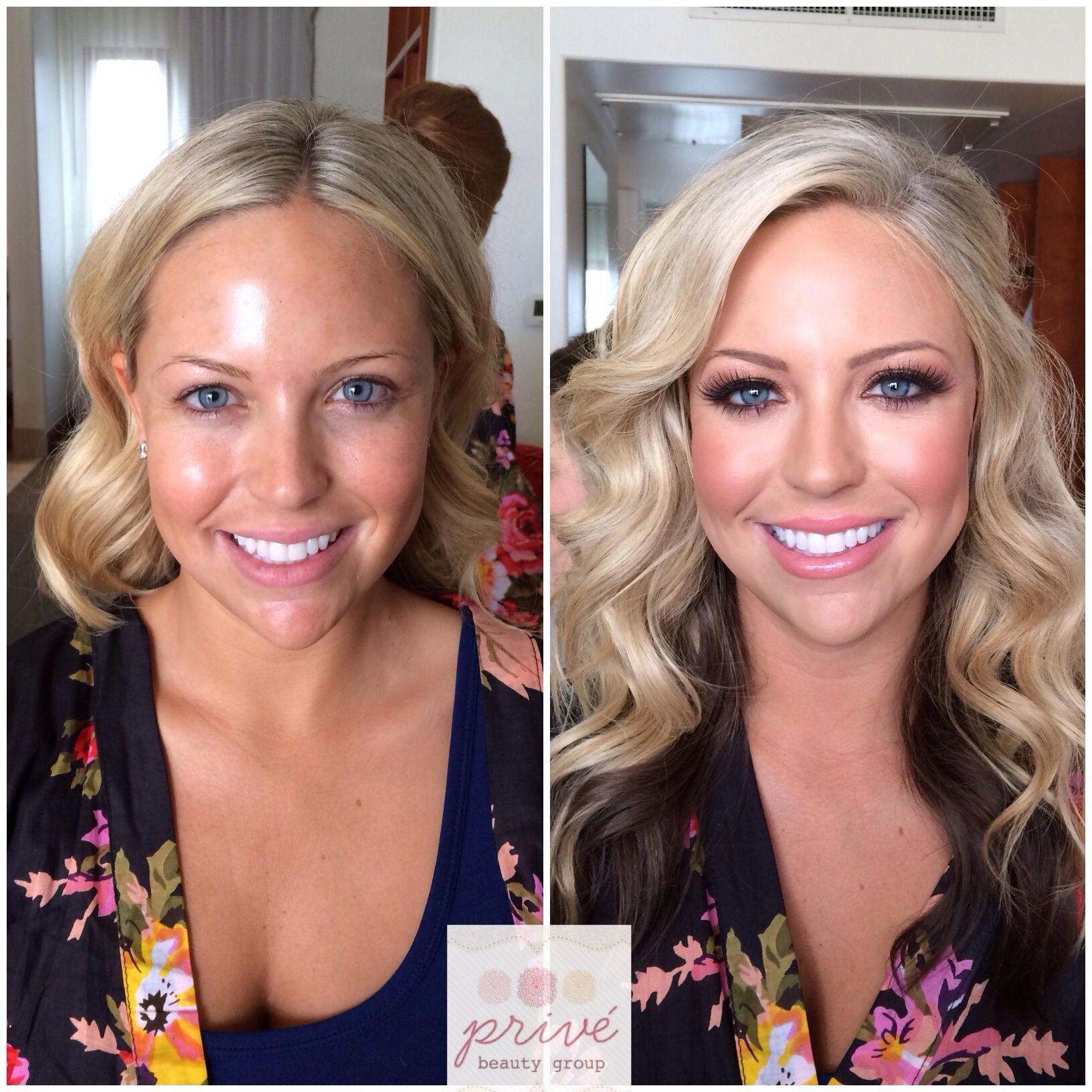 Before and after wedding hair and makeup, perfect bridal ...