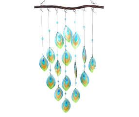 Hanging Feather Glass Windchime Big Lots Wind Chimes Glass Wind Chimes Broken Glass Crafts