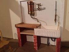 12th Scale handmade dolls house miniature Sink unit with ...