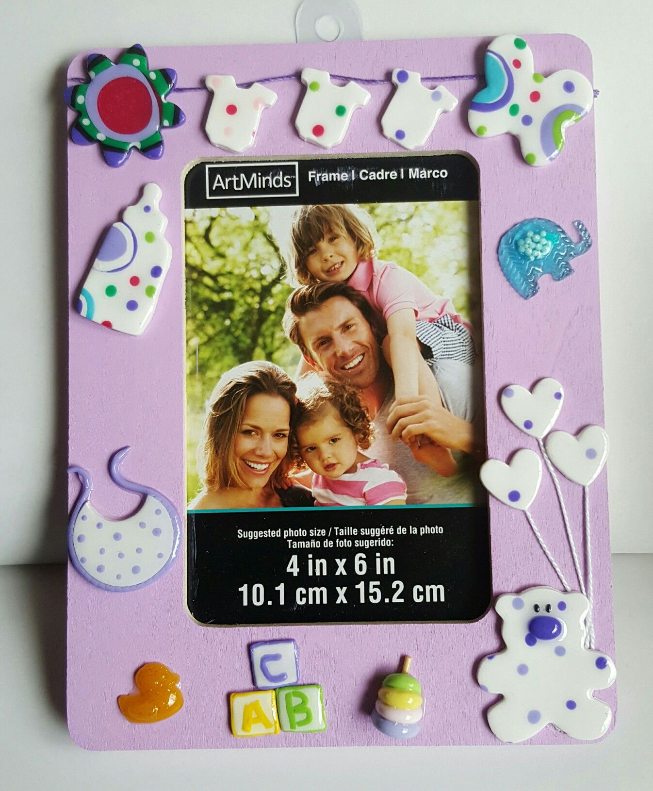 Polymer Clay Decorated Frame Gift Idea For Baby Shower