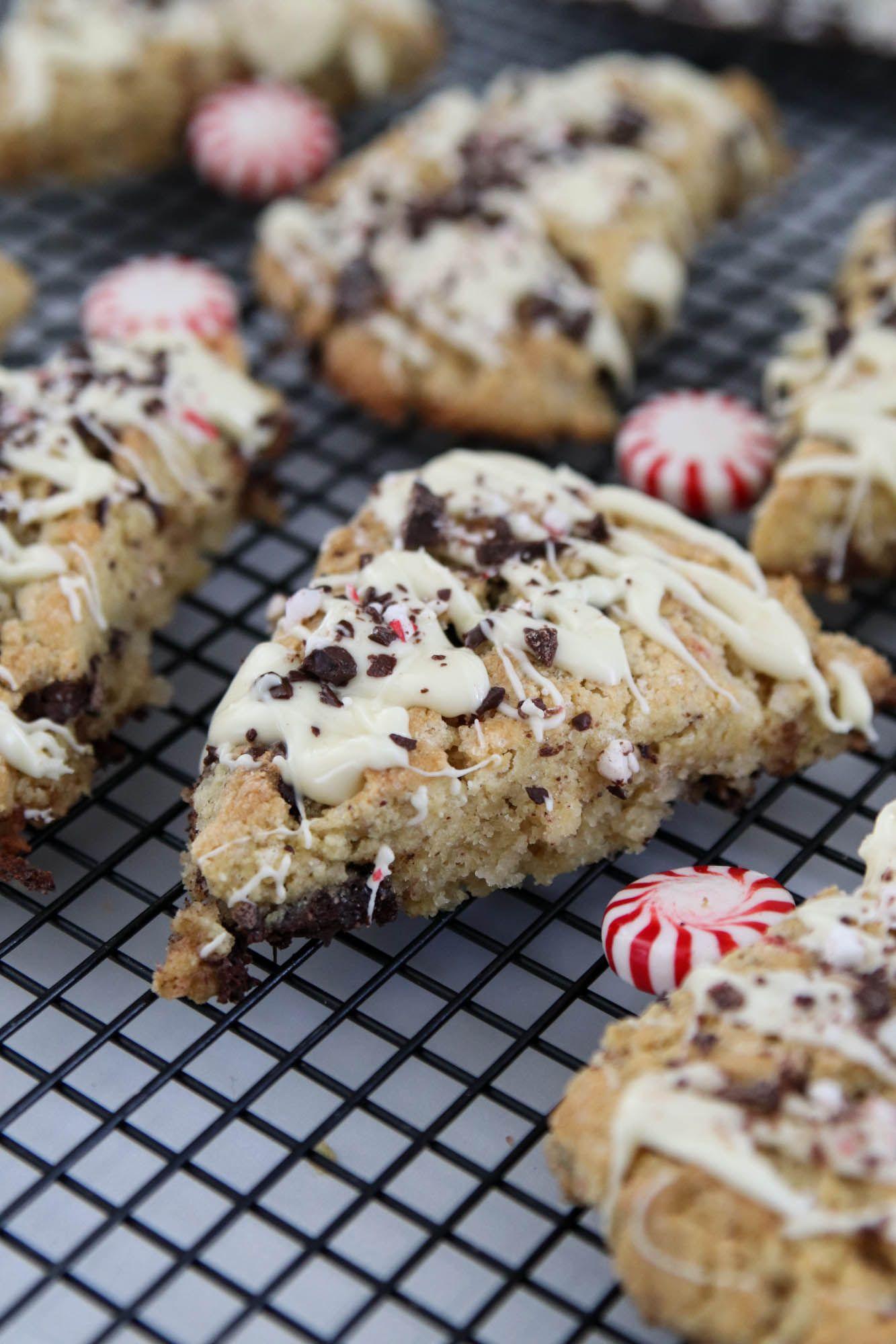 Gluten free peppermint bark scones the wood grain