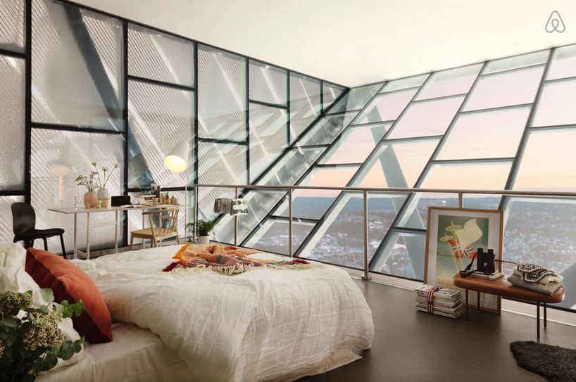 airbnb converts JDS-designed holmenkollen ski jump into a penthouse