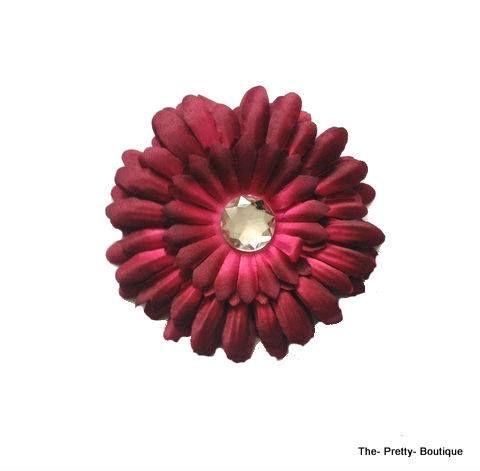 Hair Flowers Adult/Children Maroon £2 #hairaccessories #flower #adult #children #maroon #fashion #accessories