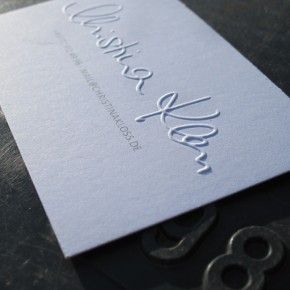 Business Card With Blindprägung Of The Owners Signature