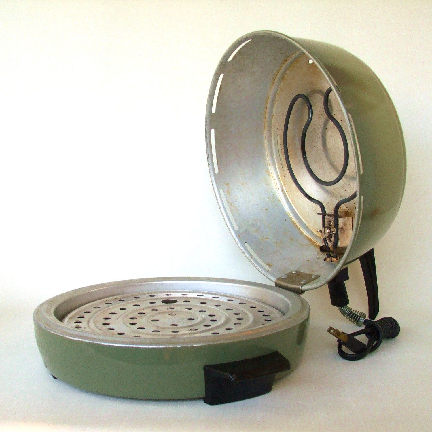 old kitchen appliances mirro electric broiler oven vintage