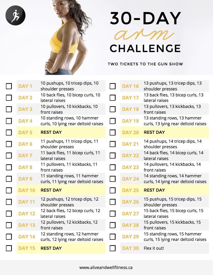 30 day arm challenge workouts bauchmuskel bungen fitness tipps gesunder k rper. Black Bedroom Furniture Sets. Home Design Ideas