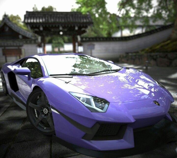 Lamborghini Aventador In Purple In Love