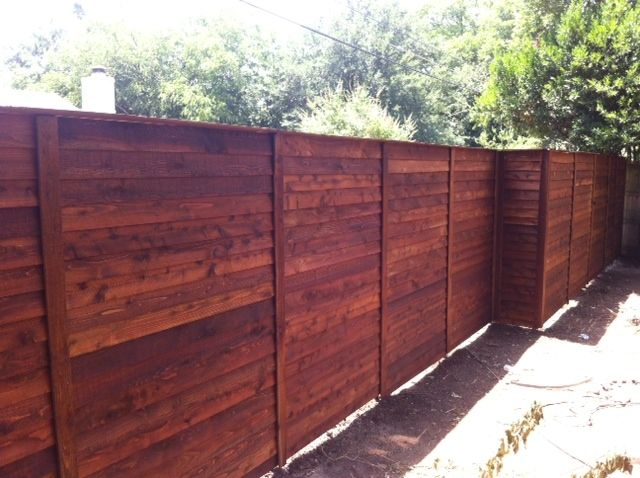 Wood Fencing In 2019 Yard Front Lawn Wood Fence