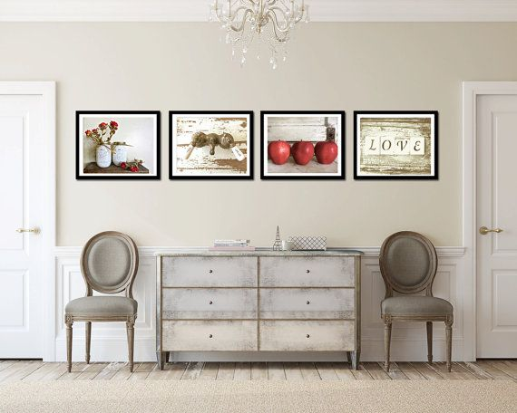 This Old House Gallery Cottage Kitchen Wall Art Country Rustic Prints Farmhouse Decor Roses Les Love