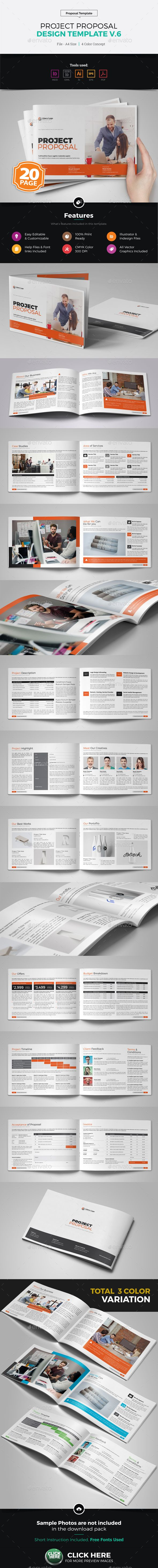 Project Proposal Brochure Template Vector Eps Indesign Indd Ai