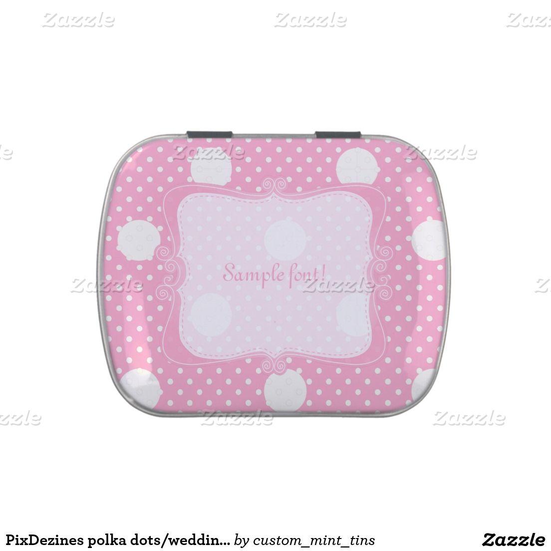 PixDezines polka dots/wedding favors mint Jelly Belly Candy Tin ...