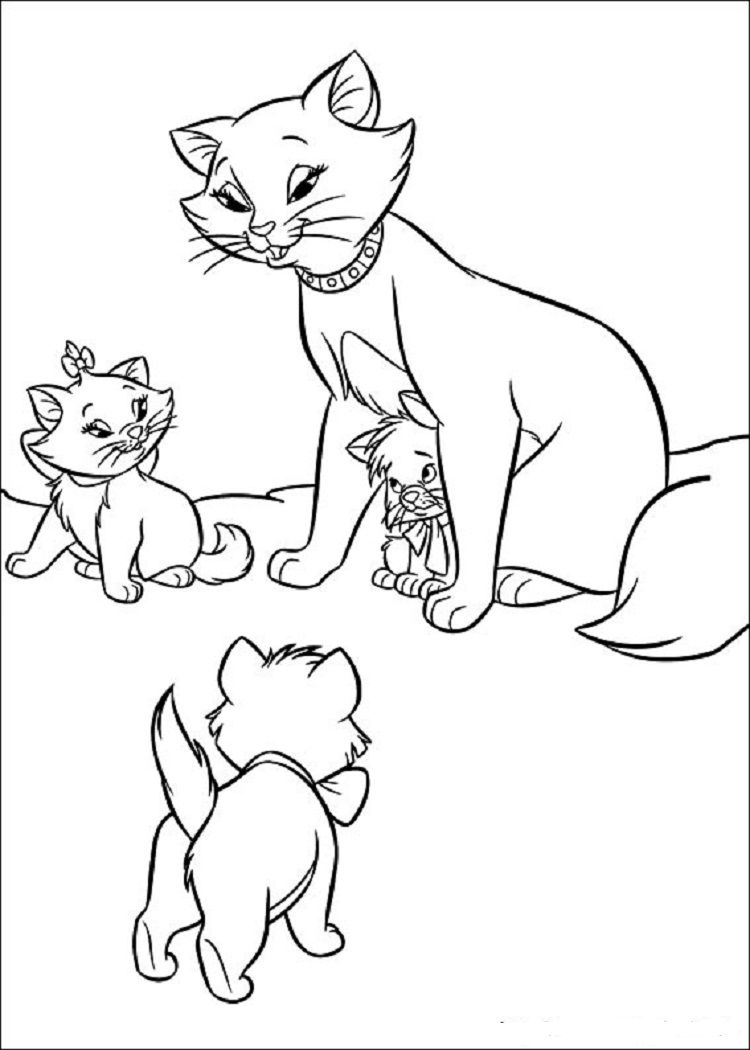 Aristocats Kittens Coloring Pages Cartoon Coloring Pages Kittens Coloring Horse Coloring Pages