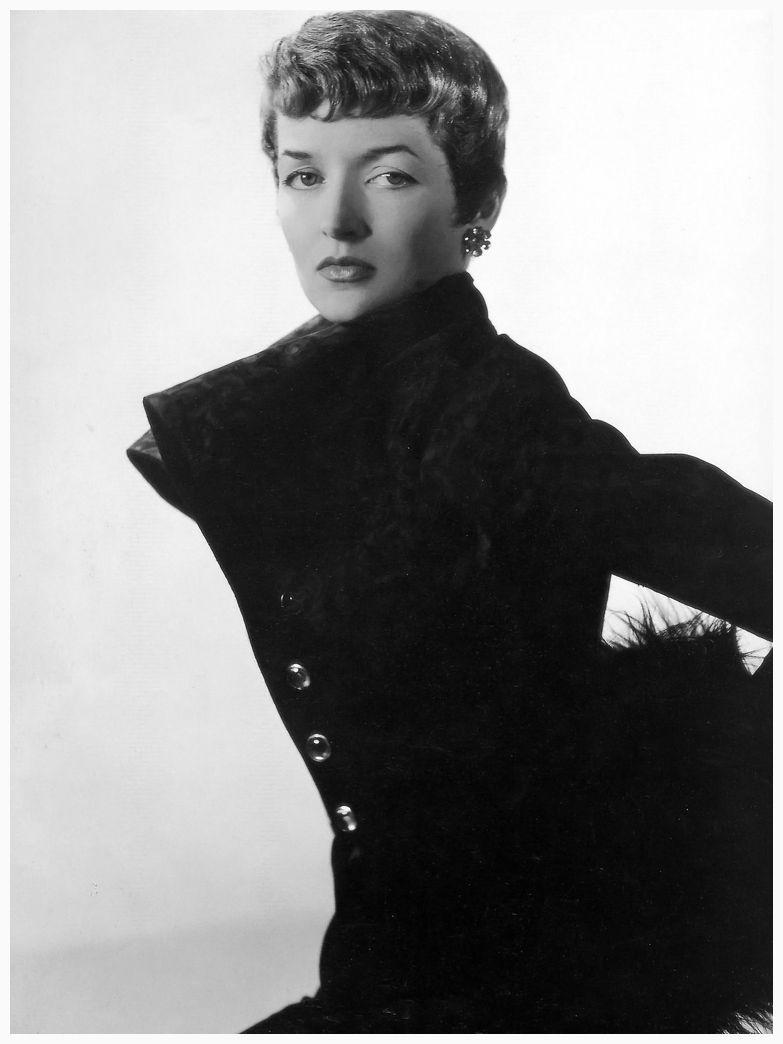 Maxine de la Falaise, 1949. Photo by Clifford Coffin.