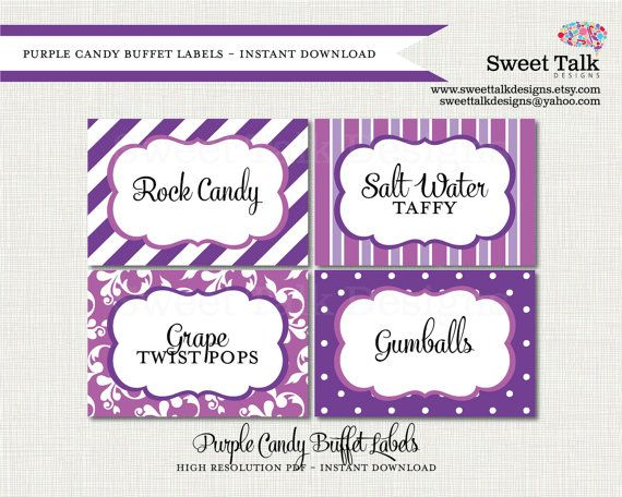 printable labels printable candy