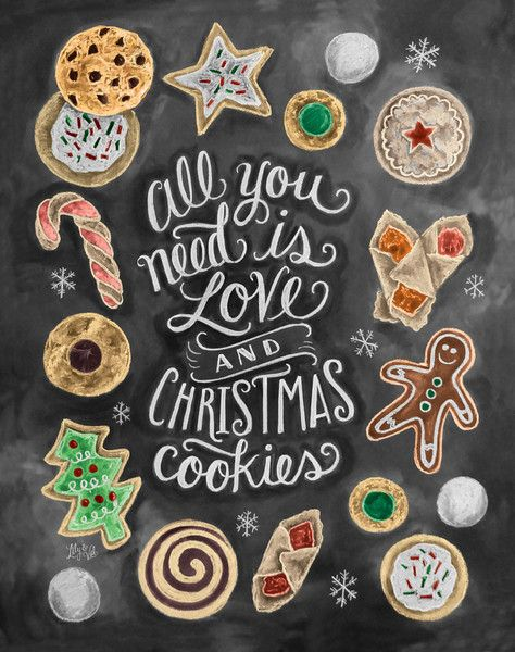 All You Need Is Love Christmas Cookies Print Christmas Holidays Christmas Cookie Exchange Holiday