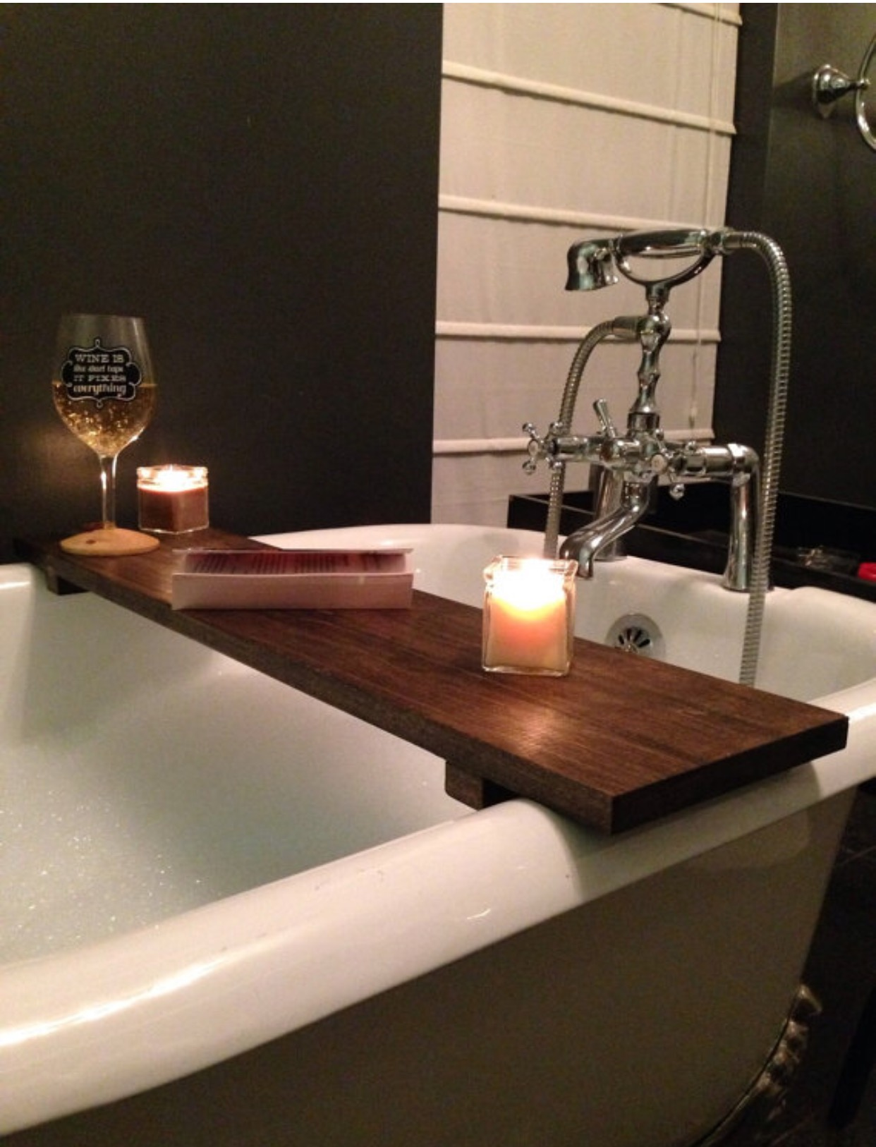 Rustic Wood Bath Caddy Custom Rustic Wood