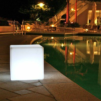Outdoor LED Light Cube 17  - Cordless with remote control by Design Kollection LLC & Outdoor LED Light Cube 17