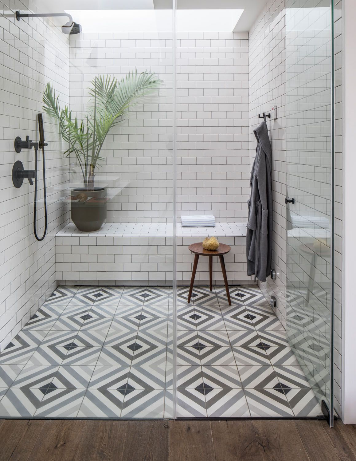 A Brooklyn Brownstone Gets And Unbelievable Transformation Rue Shower Tile Tile Remodel Shower Tile Patterns
