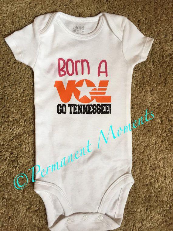 Born a Vol Tennessee Onesie Born A Fan
