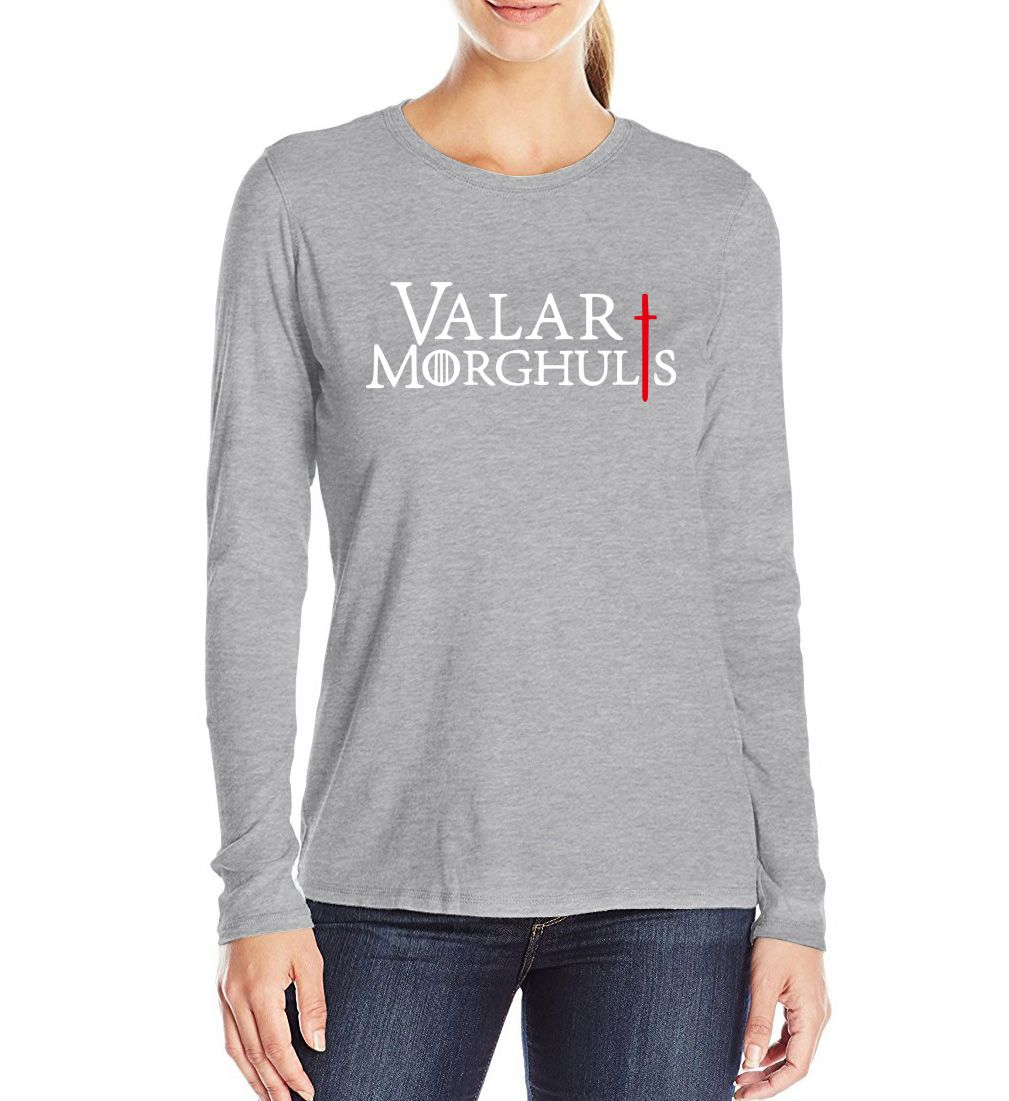 VALAR MORGHULIS tee shirt femme 2017  women's t-shirts harajuku brand camisetas mujer long sleeve clothing S-XL #Affiliate