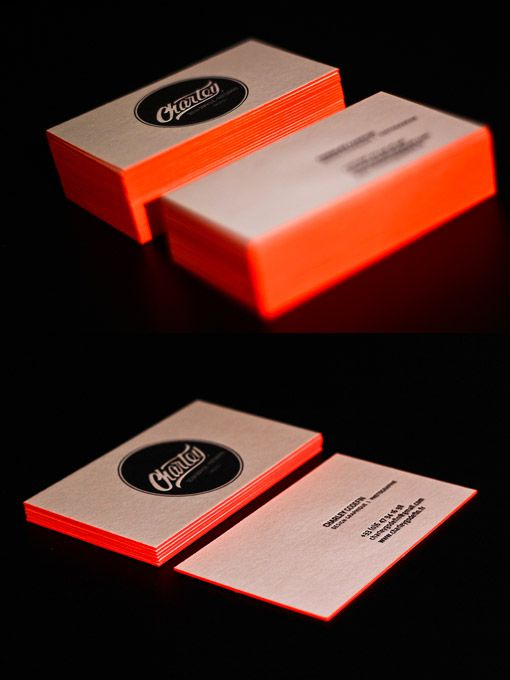 Bright Orange Letterpress :: 2x350gr Old Mill Bianco Paper ...