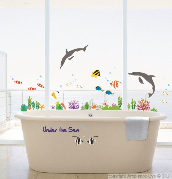 Poissons Dauphins - Stickers Mural Animaux / ambiance-sticker