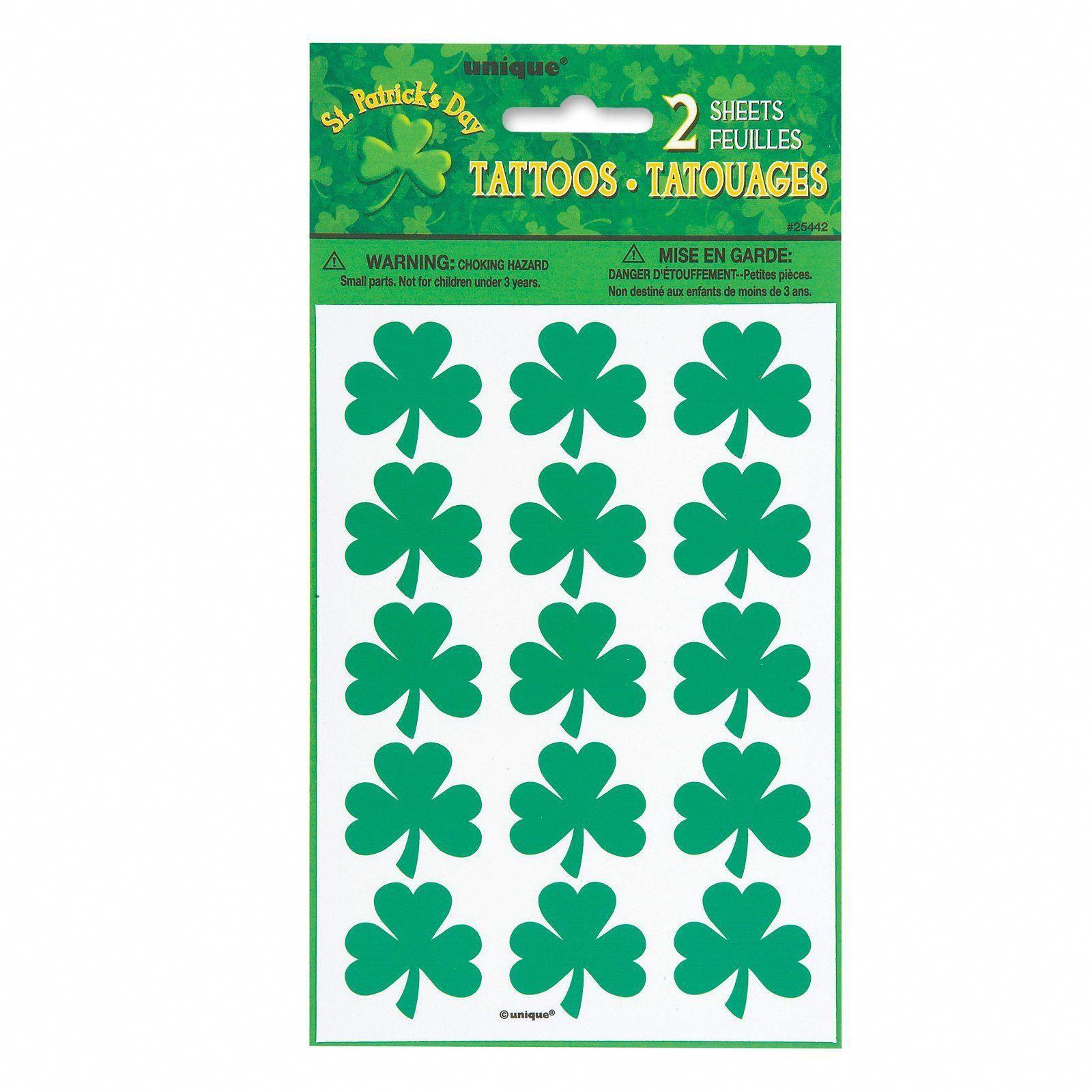 Shamrock tattoo sheets 2 count description show your