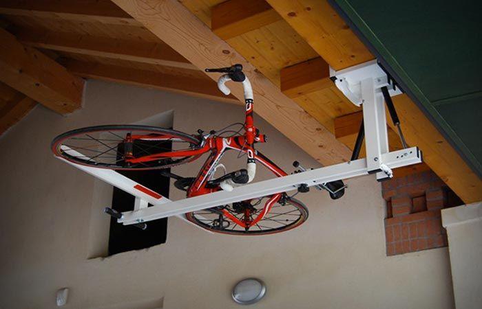 flat bike lift ceiling bike rack