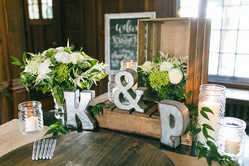 Rustic Chic Welcome Table For Guests Wooden Crates Galvanized Initial Lett Guest Book Table Decor Wedding Guest Book Table Decorations Wedding Welcome Table