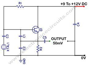 colpitts 1mhz to 20 mhz crystal oscillator circuit electronics rh pinterest com