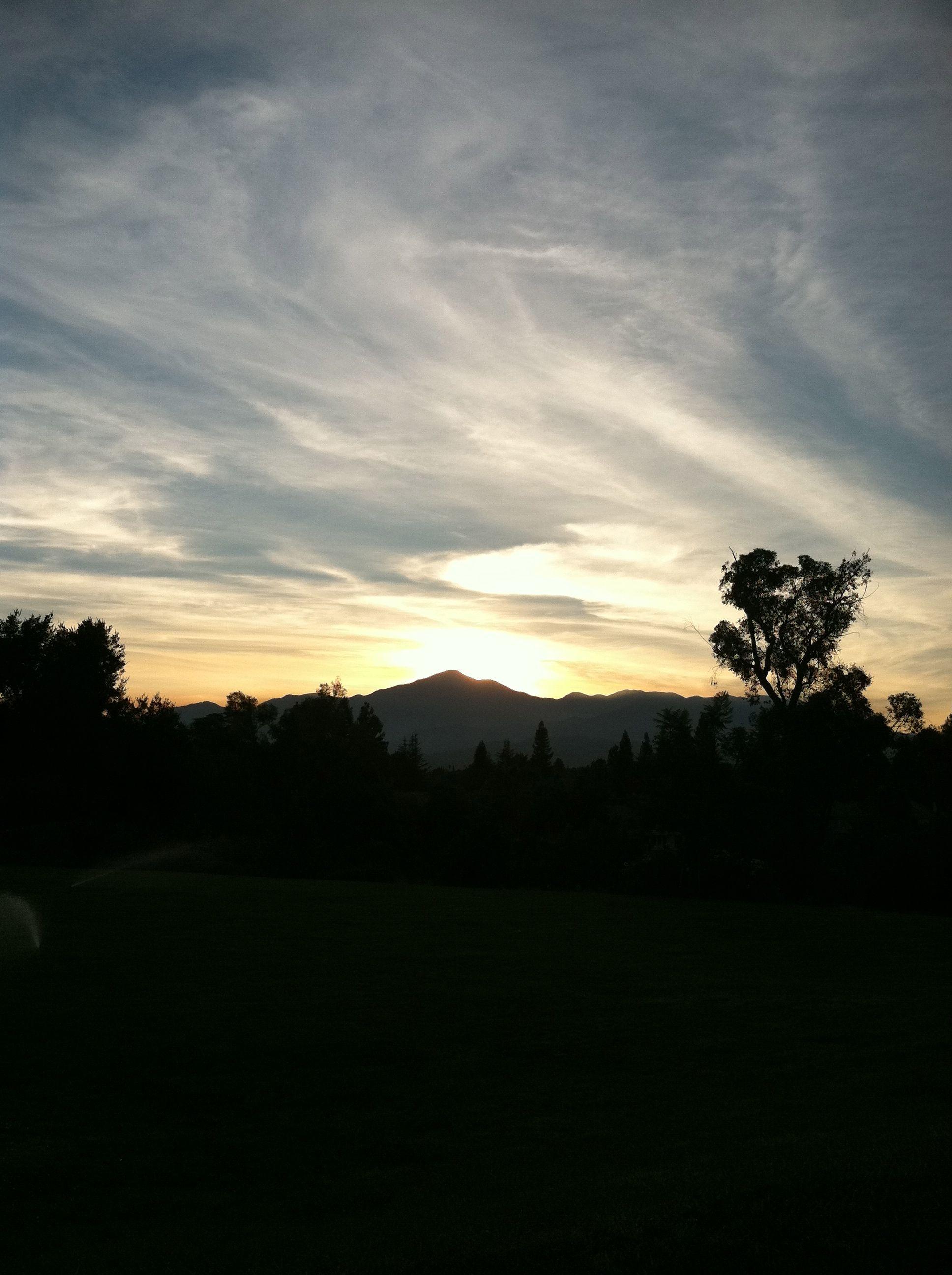 Morning sunrise from burrage mansion redlands