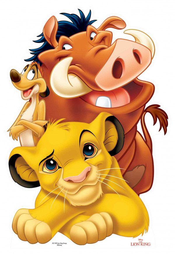 Figurine En Carton Simba Pumba Et Timon Le Roi Lion Disney H