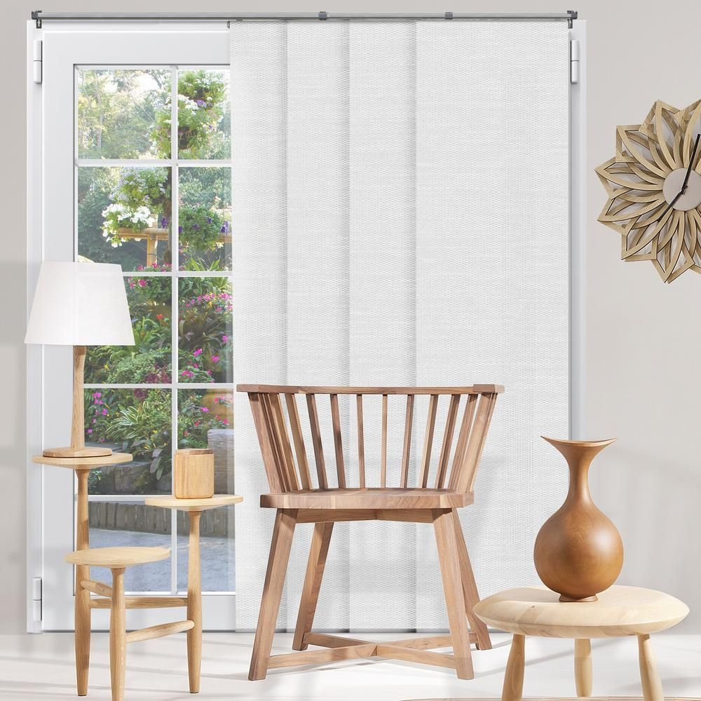 Chicology panel track blinds birch white polyester