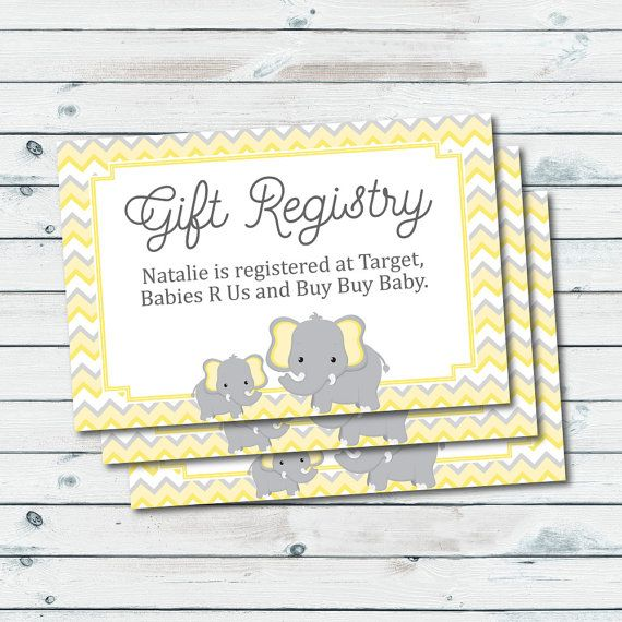 image relating to Free Printable Baby Registry Cards known as Youngster Registry Playing cards, Registry Inserts, Child Shower Present