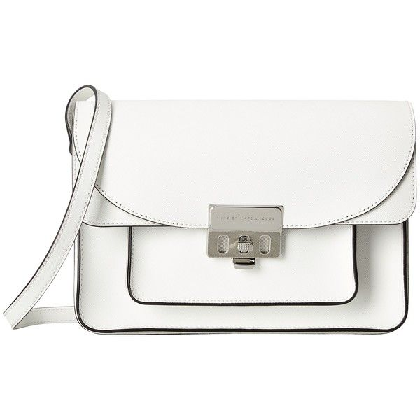887e55fd4 Marc by Marc Jacobs Lip Lock Messenger ($428) ❤ liked on Polyvore featuring  bags, messenger bags, purses, accessories, handbags, star white, leather  bags, ...