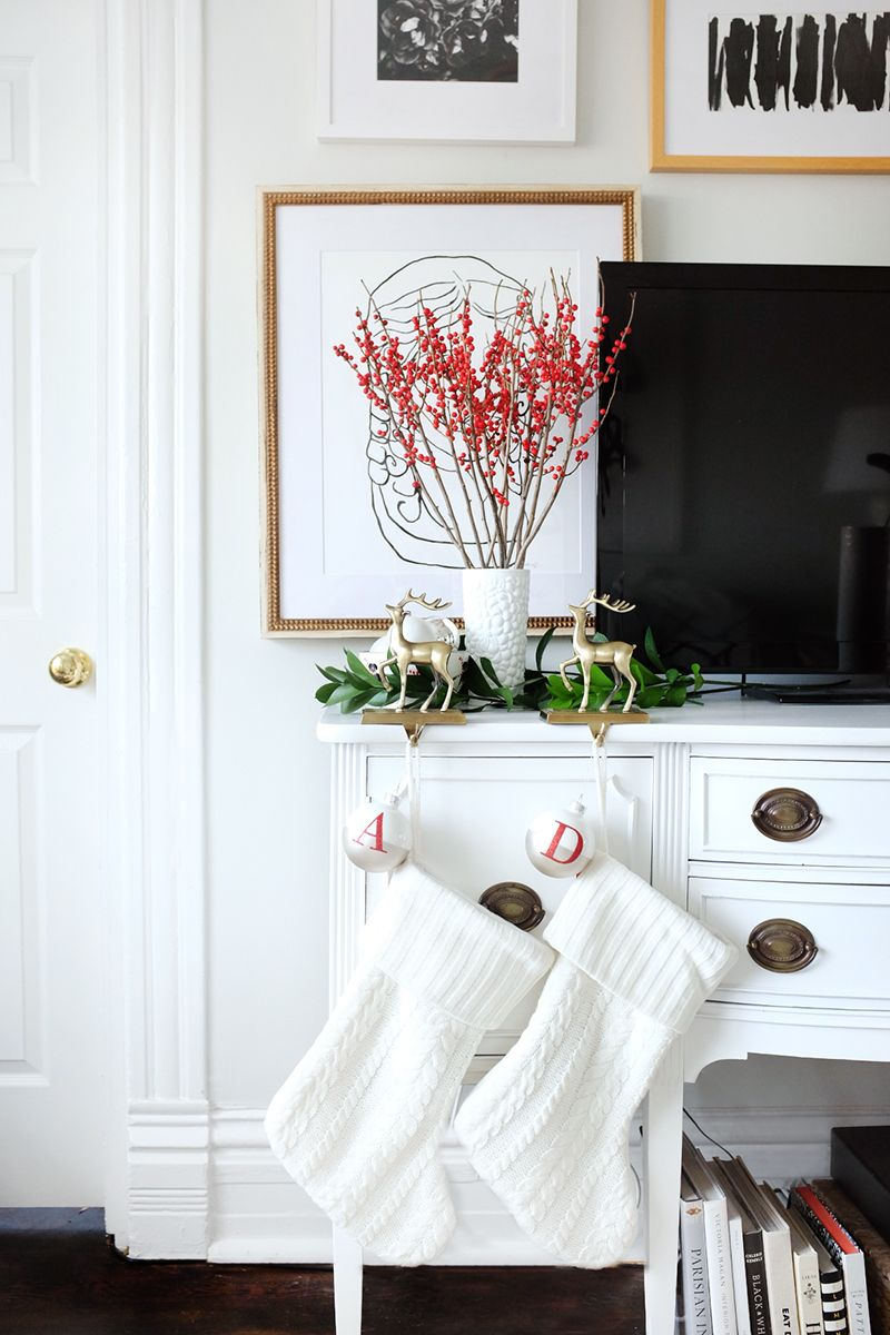 Where to hang stockings without a fireplace